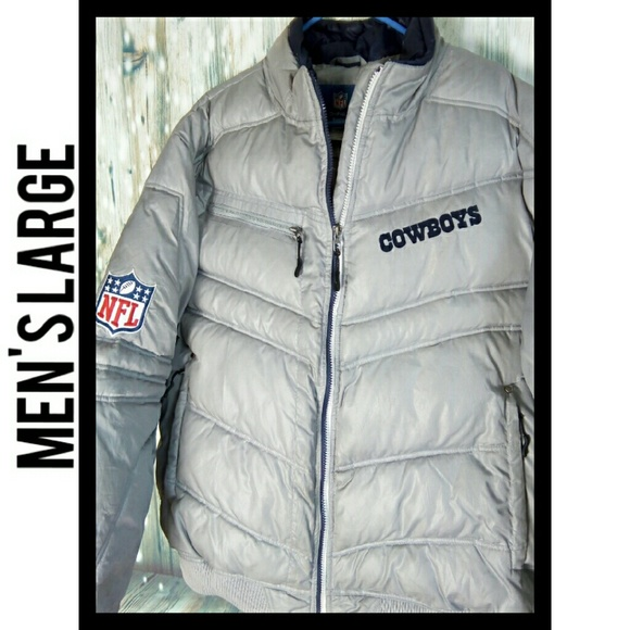 hot sale online 59f37 99e28 Dallas cowboys puffer coat onfield Reebok size lg